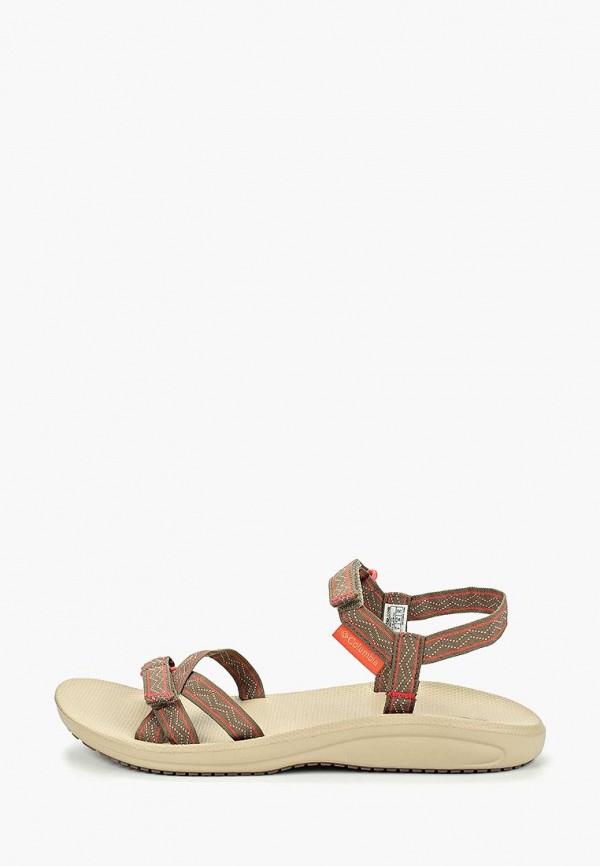 женские сандалии columbia, коричневые