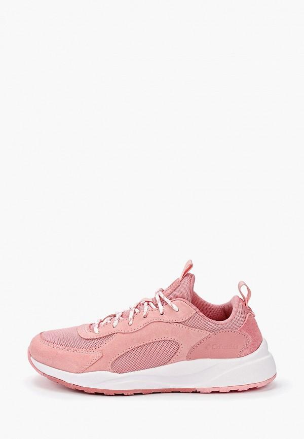 женские низкие кроссовки columbia, розовые