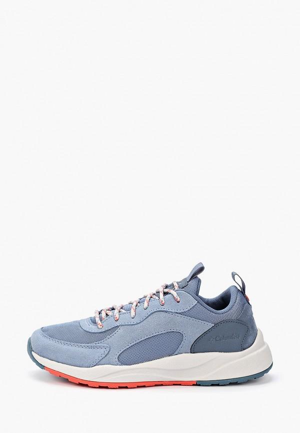 женские низкие кроссовки columbia, синие