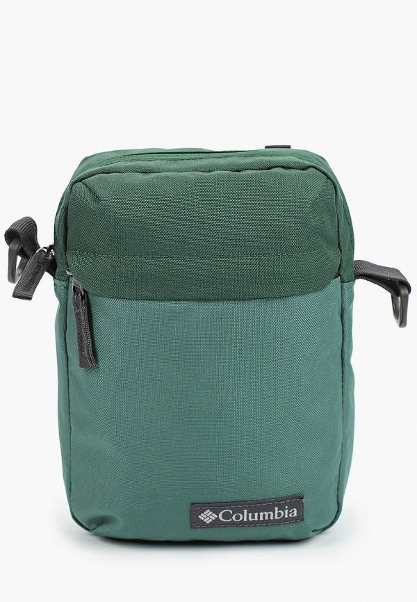 женская сумка через плечо columbia, зеленая