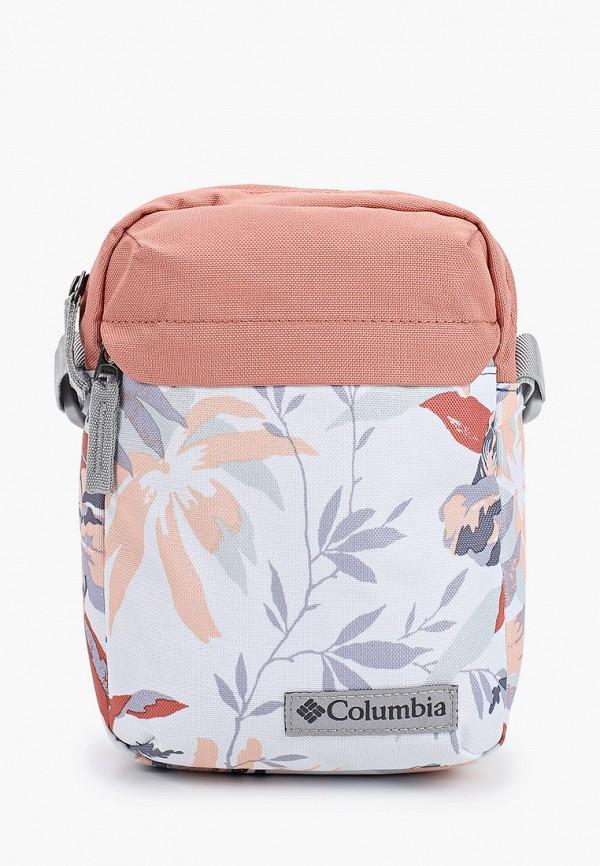 женская сумка через плечо columbia, белая
