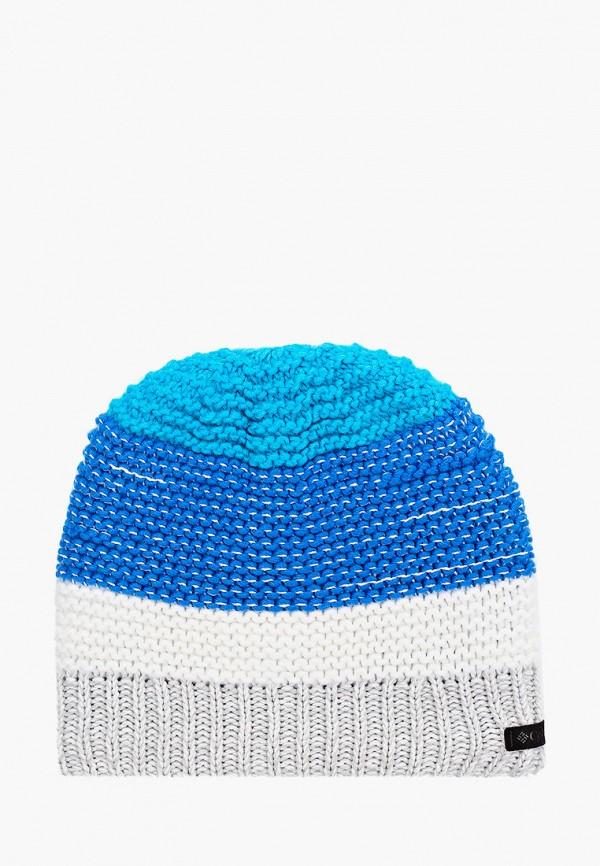 шапка columbia для мальчика, голубая