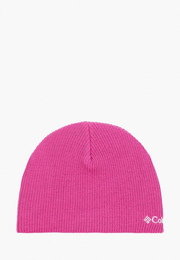шапка columbia для девочки, розовая