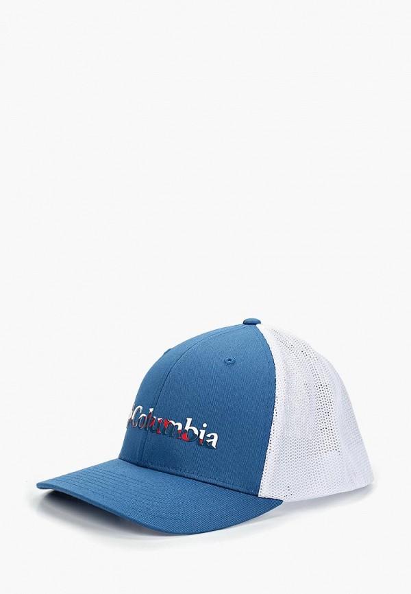 женская бейсболка columbia, синяя