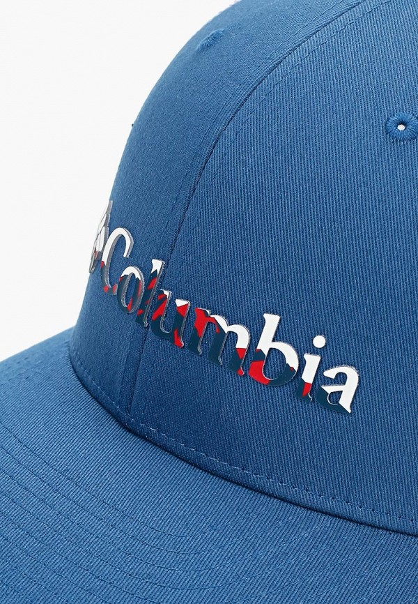 Фото 3 - Бейсболка Columbia синего цвета