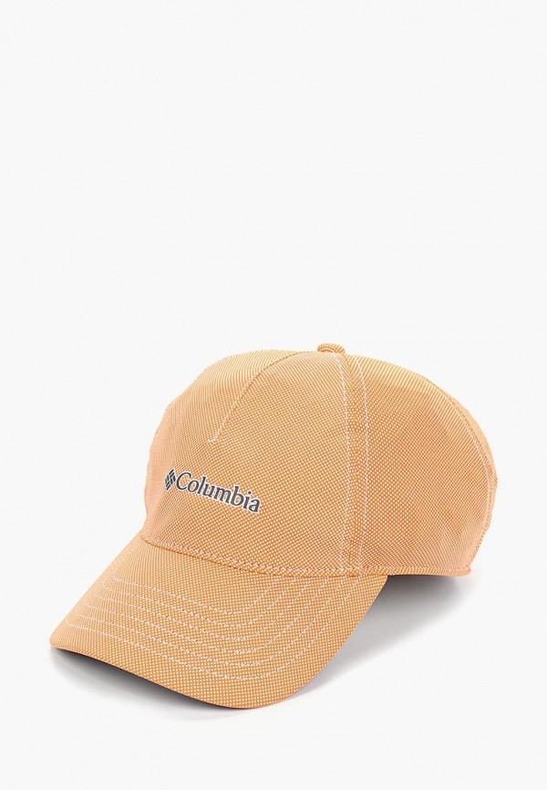 женская бейсболка columbia, оранжевая