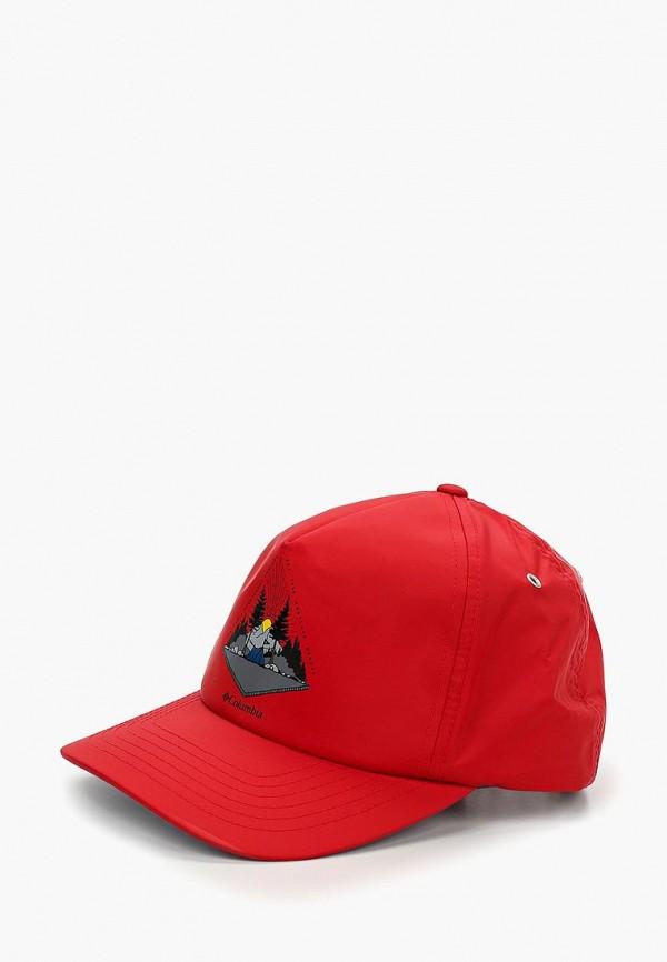 женская бейсболка columbia, красная