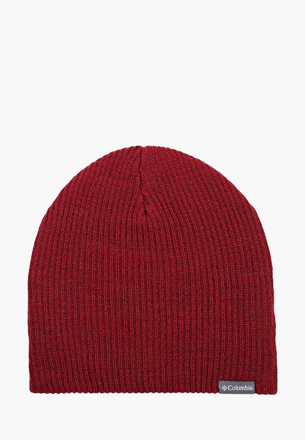 женская шапка columbia, бордовая