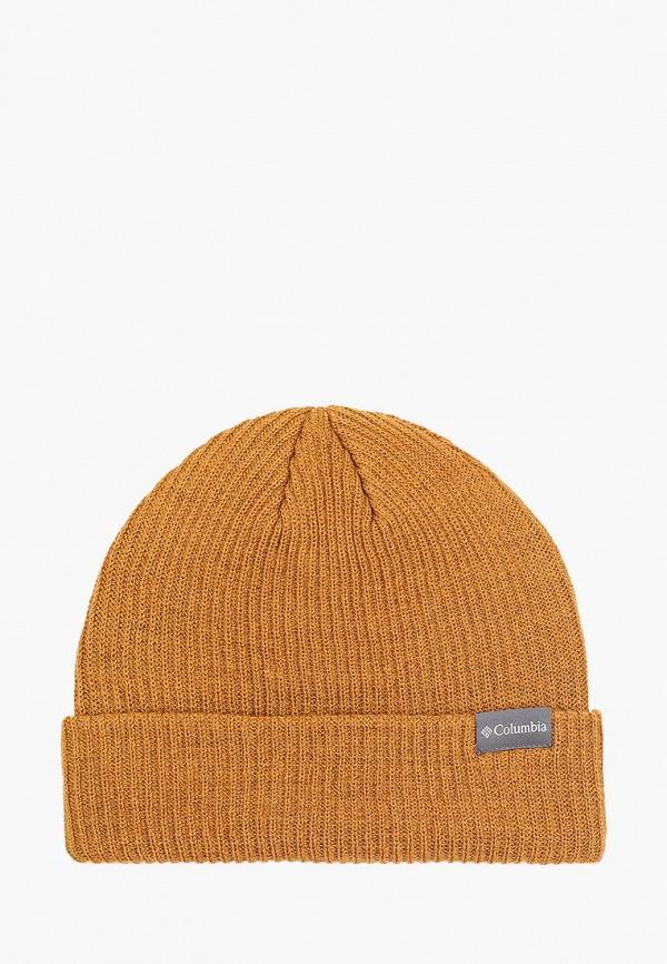 женская шапка columbia, коричневая