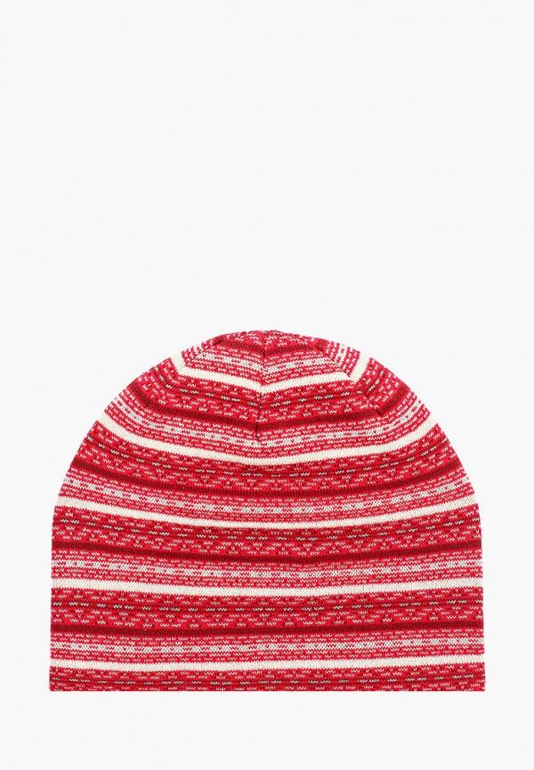женская шапка columbia, красная