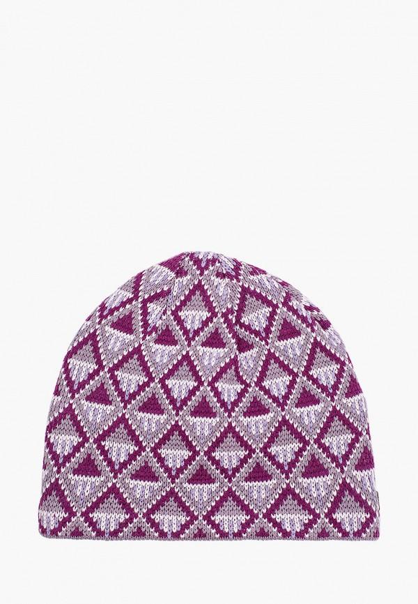 женская шапка columbia, фиолетовая