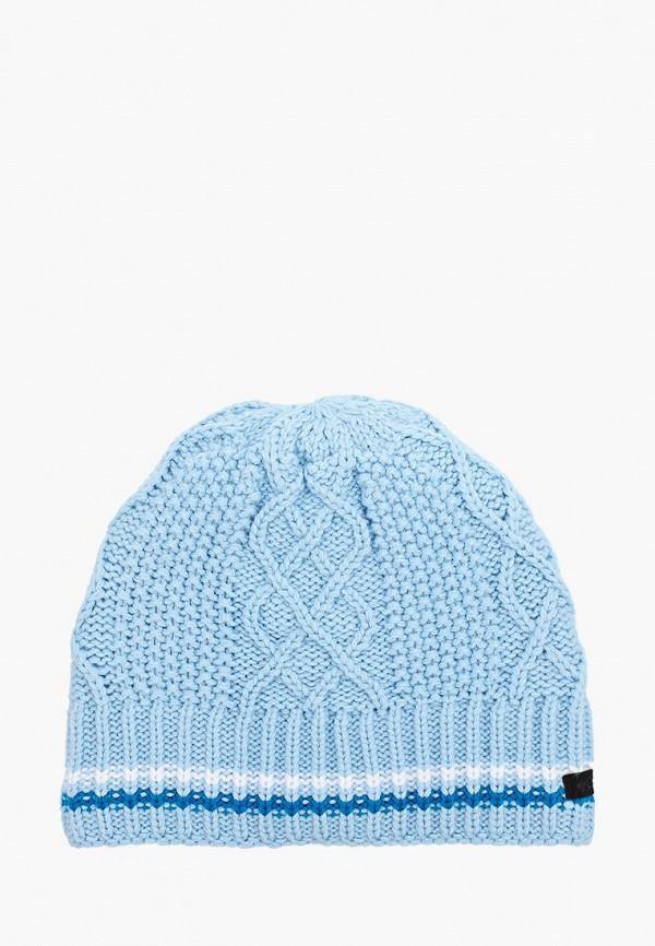 женская шапка columbia, голубая