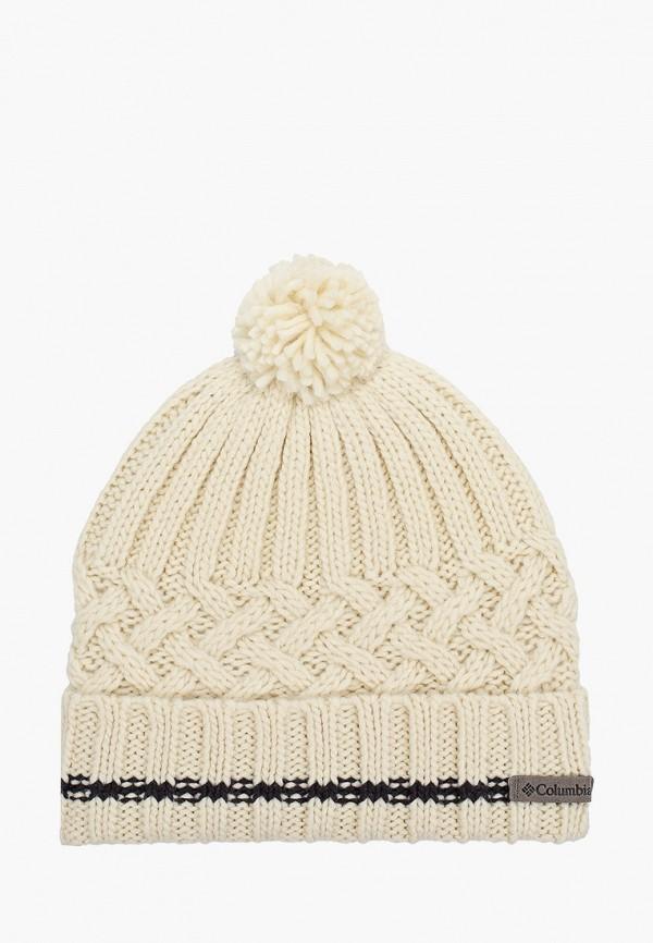 женская шапка columbia, белая