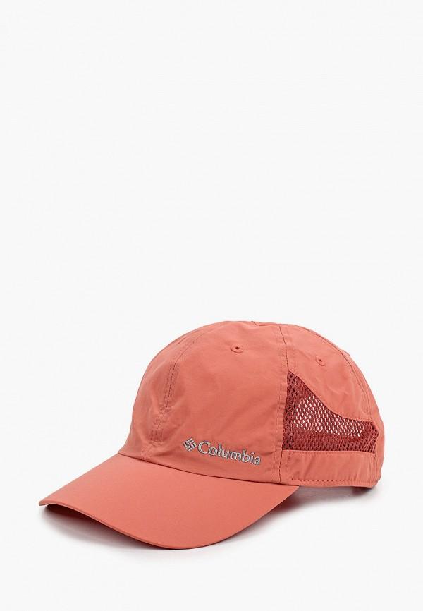 женская бейсболка columbia, розовая