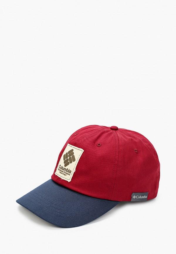 женская бейсболка columbia, бордовая
