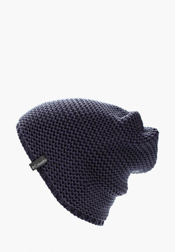 женская шапка columbia, синяя