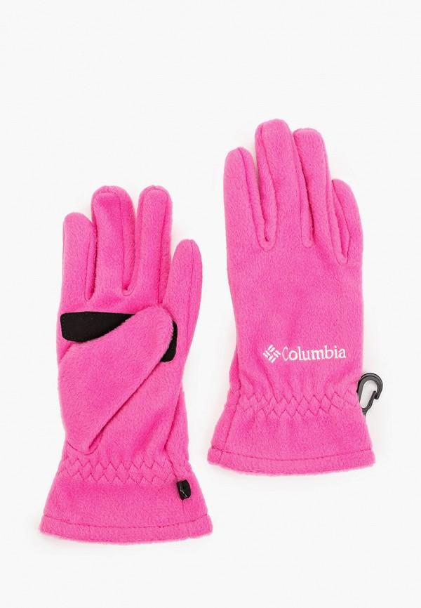перчатки columbia для девочки, розовые
