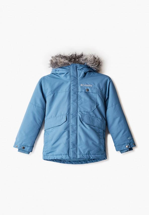 Фото - Куртку утепленная Columbia синего цвета