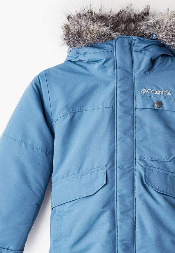 Фото 3 - Куртку утепленная Columbia синего цвета