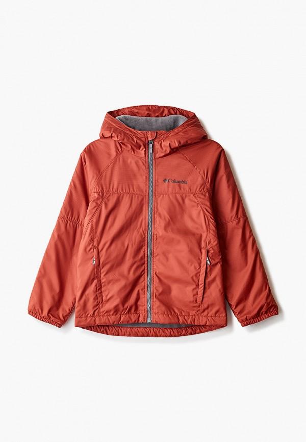 легкие куртка columbia для мальчика, красная