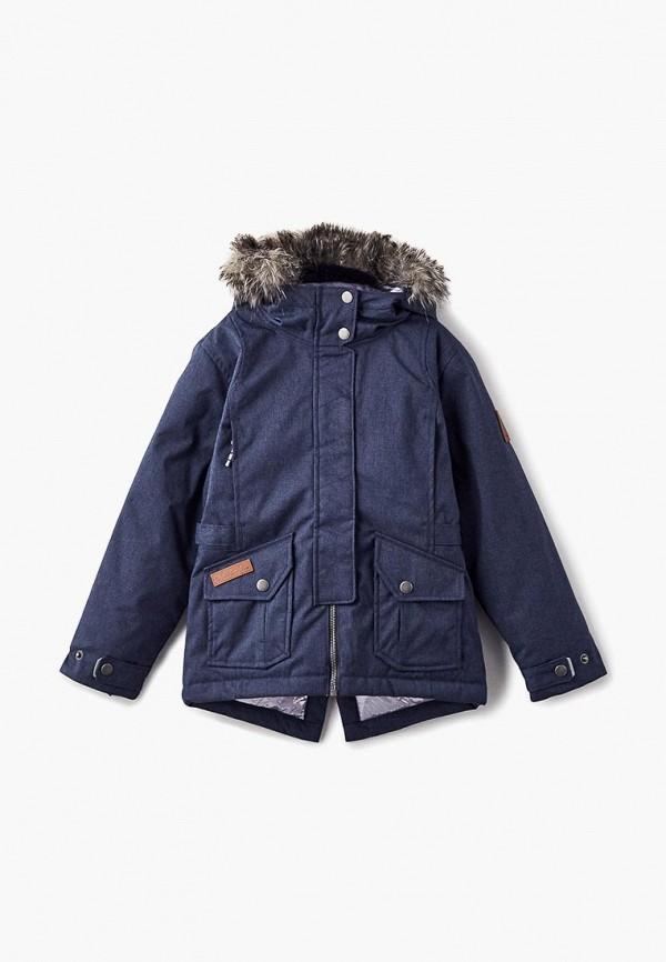 куртка columbia для девочки, синяя