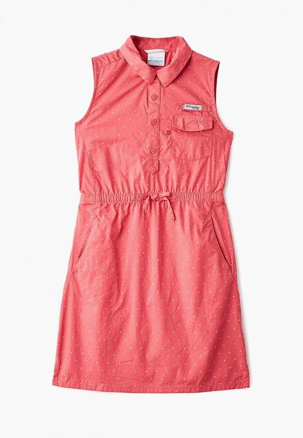 повседневные платье columbia для девочки, розовое