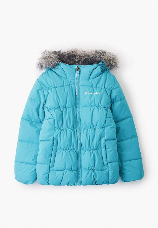 утепленные куртка columbia для девочки, голубая