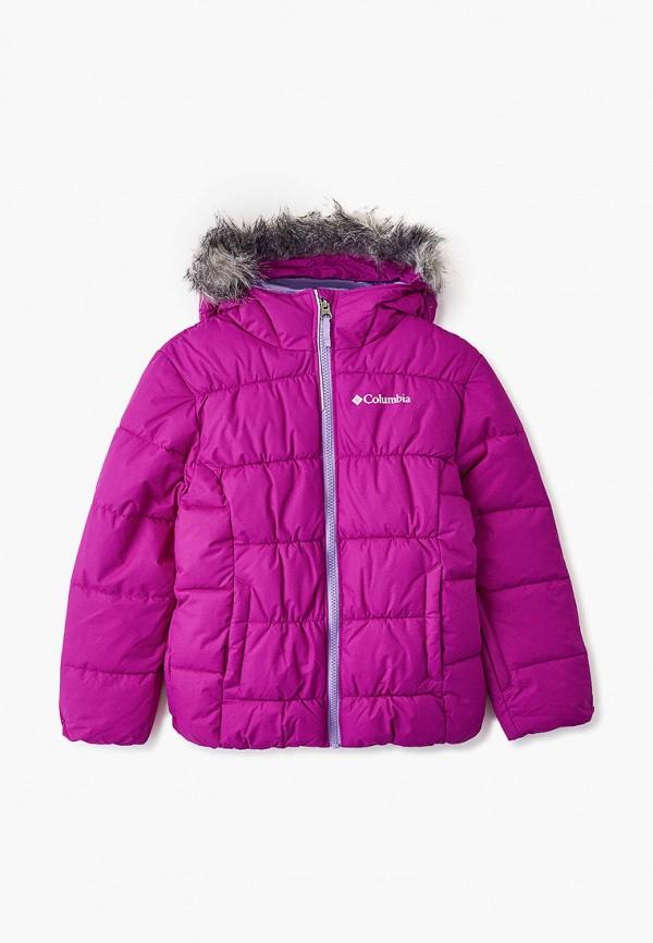 утепленные куртка columbia для девочки, розовая