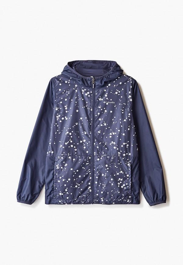 легкие куртка columbia для девочки, синяя