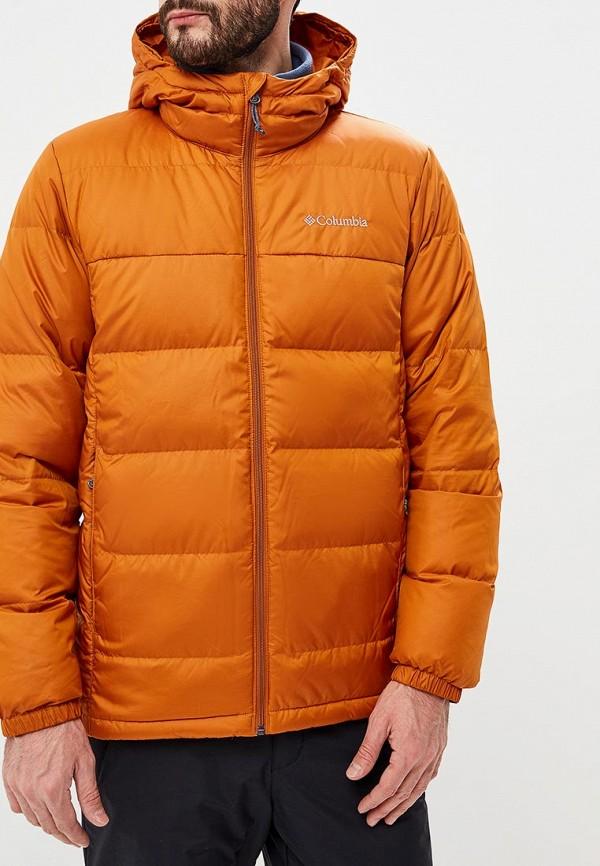 Мужской оранжевый осенний пуховик
