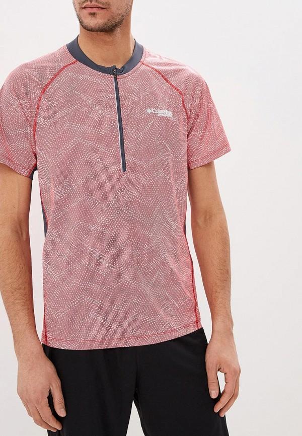 мужская спортивные футболка columbia, красная