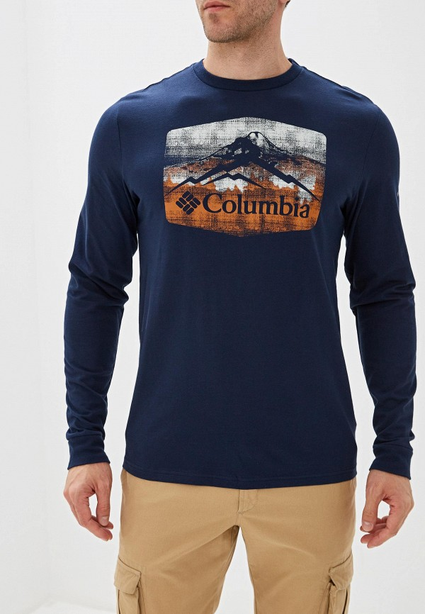 мужской лонгслив columbia, синий