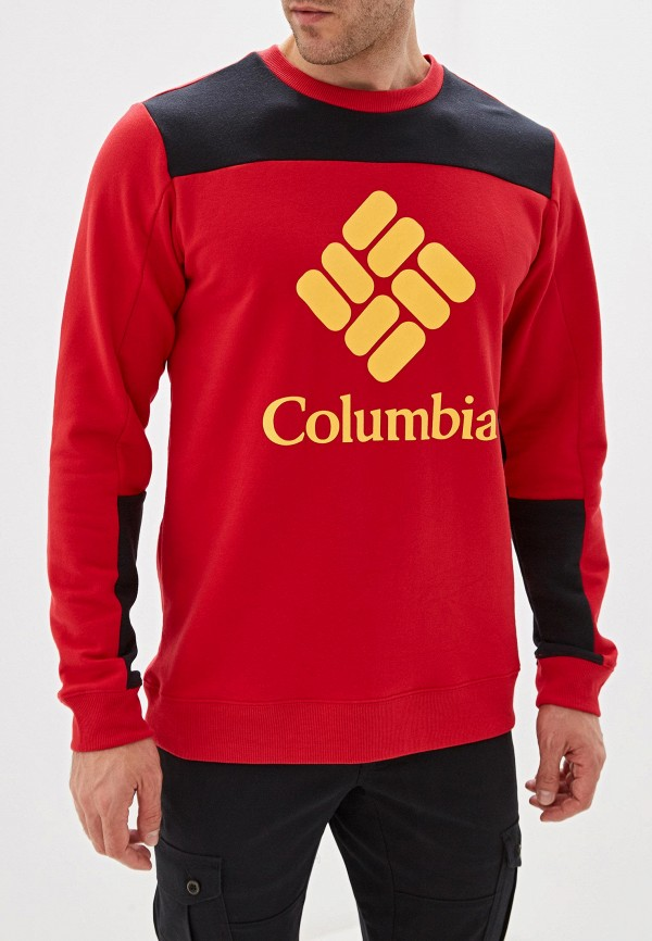 мужской свитшот columbia, красный