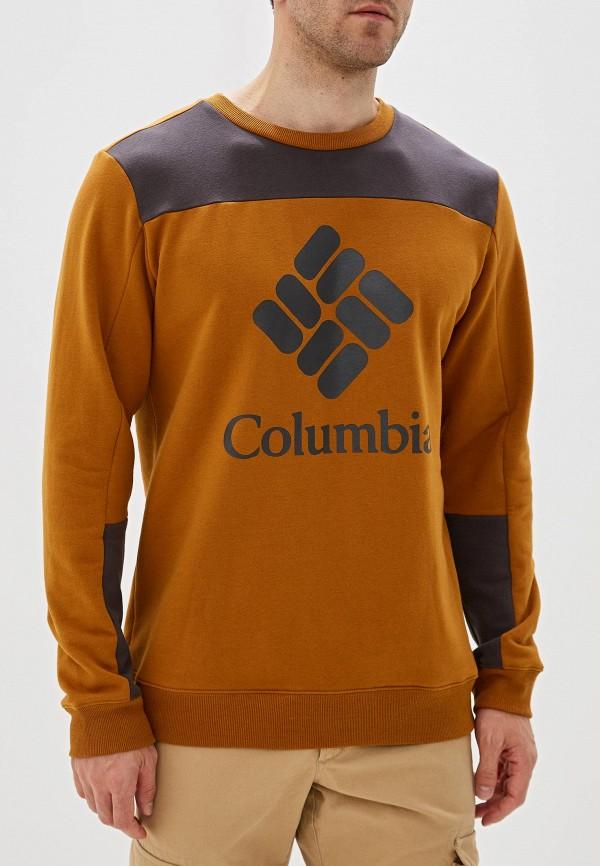 мужской свитшот columbia, коричневый