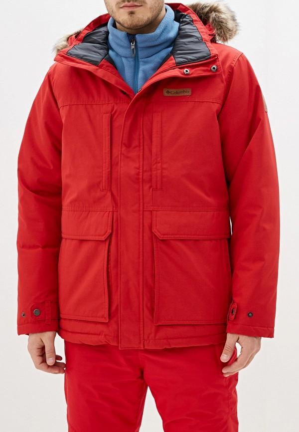 мужская куртка columbia, красная