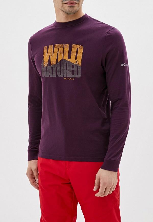 мужской лонгслив columbia, фиолетовый