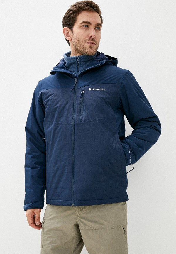 мужская куртка columbia, синяя