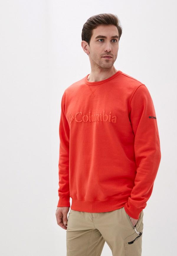 мужской свитшот columbia, оранжевый