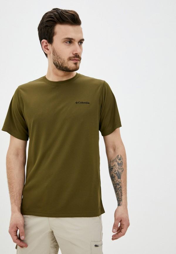 мужская спортивные футболка columbia, зеленая