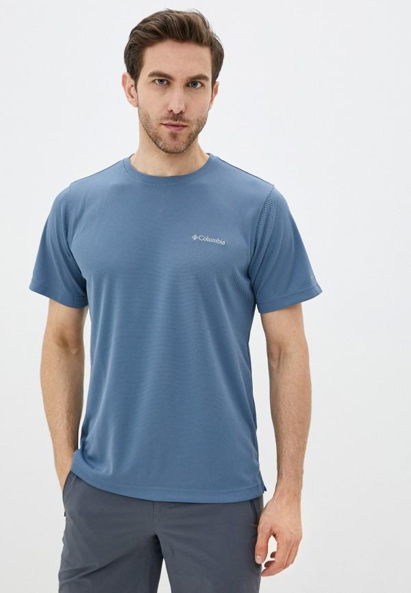 мужская спортивные футболка columbia, голубая