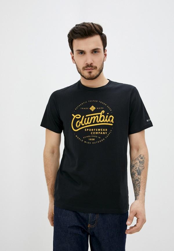 мужская спортивные футболка columbia, черная