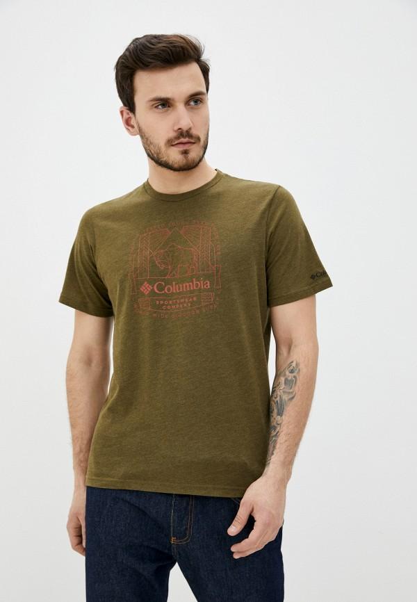 мужская спортивные футболка columbia, хаки