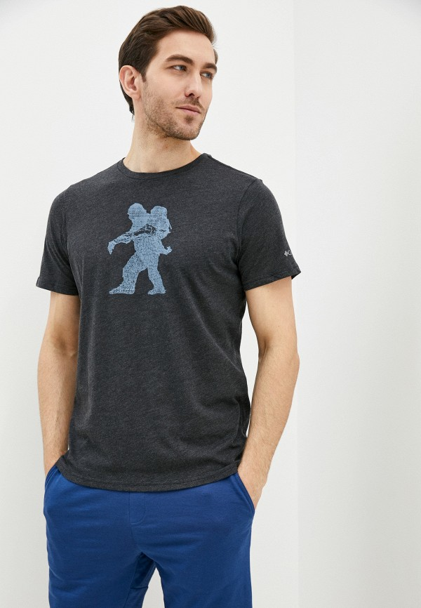 мужская спортивные футболка columbia, серая