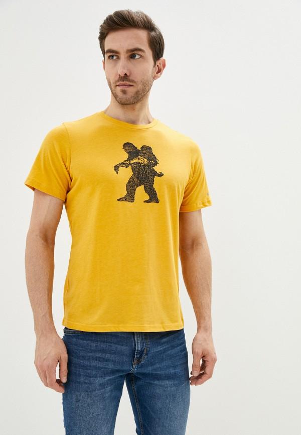 мужская спортивные футболка columbia, желтая