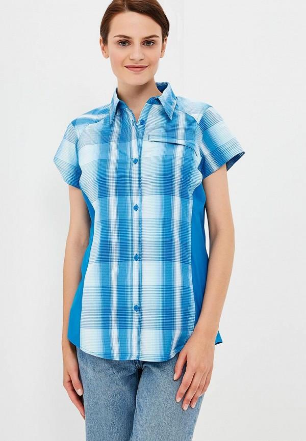 женская рубашка columbia, синяя