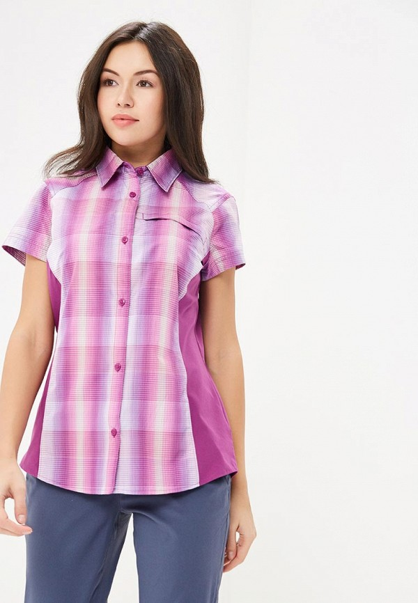 женская спортивные рубашка columbia, фиолетовая