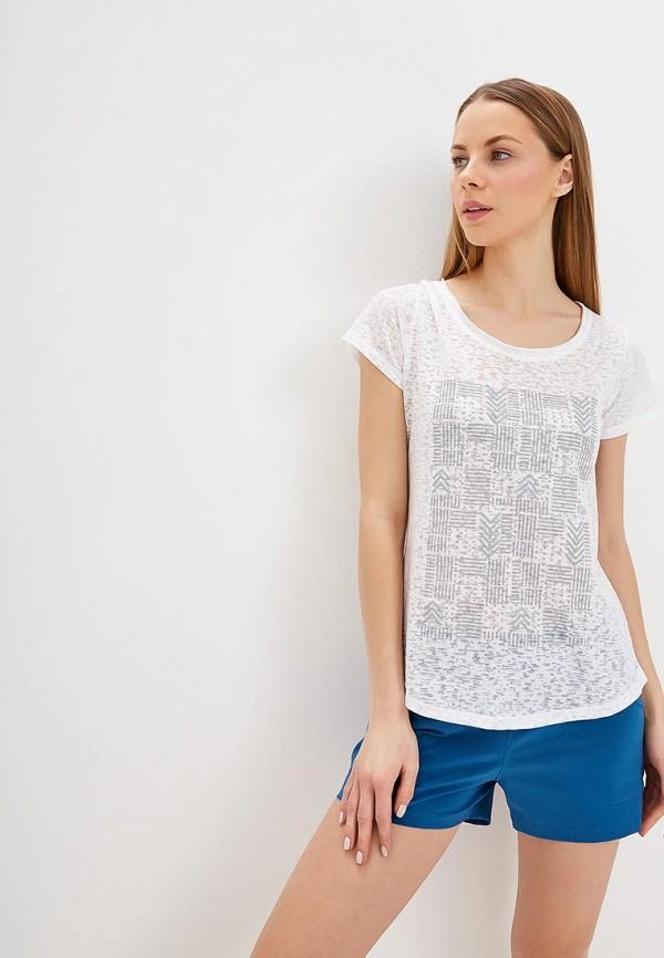 Фото - женскую футболку Columbia белого цвета