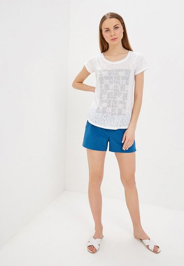 Фото 2 - женскую футболку Columbia белого цвета