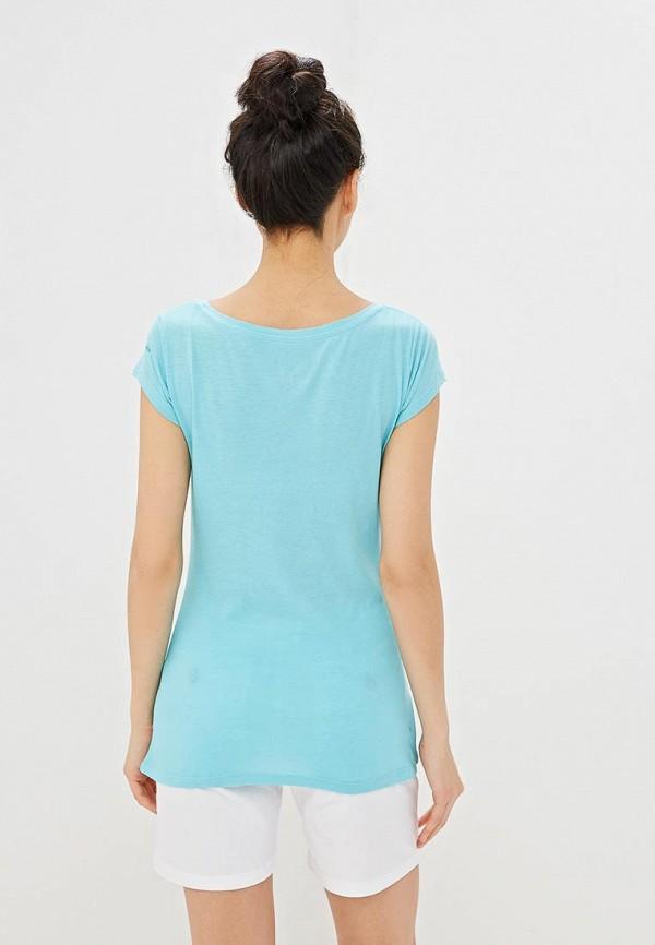 Фото 3 - женскую футболку Columbia голубого цвета