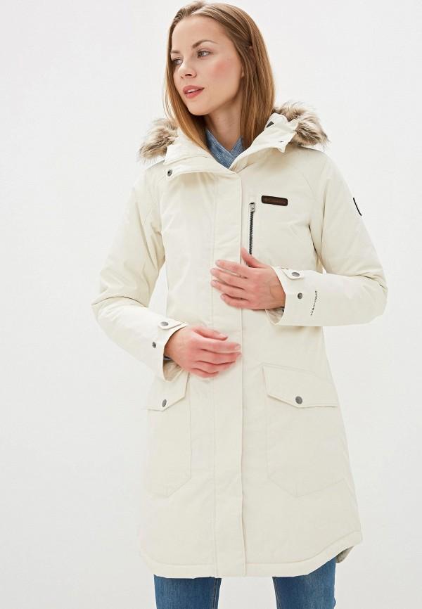 женская куртка columbia, бежевая